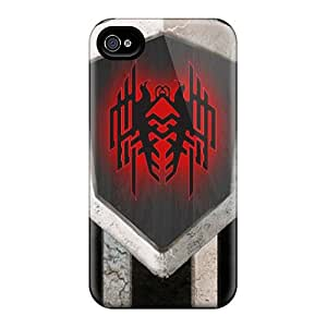Iphone 4/4s Case Cover With Shock Absorbent Protective CqDfcPt1924iJExJ Case