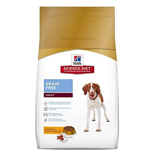 Hill's Science Diet Adult Grain Free Dog Food, Chicken & Potato Recipe Dry Dog Food, 21 lb Bag