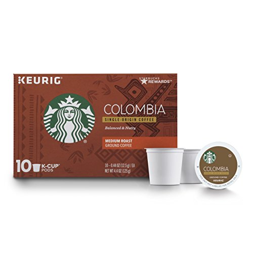 - Starbucks Colombia Medium Roast Single Cup Coffee for Keurig Brewers, 6 boxes of 10 (60 total K-Cup pods)