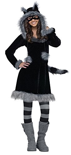 Teen Sweet Raccoon Girls Costumes (Sweet Racoon Teen/Junior Costume - Teen)