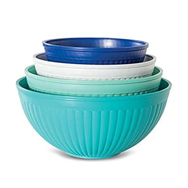 Nordic Ware 69514 Prep & Serve Mixing Bowl Set, 4-pc Set of 4 Coastal Colors