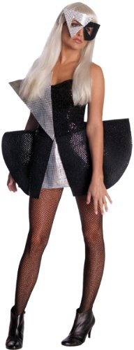 [Lady Gaga Blk Sequin Dress Xs] (Affordable Costumes)