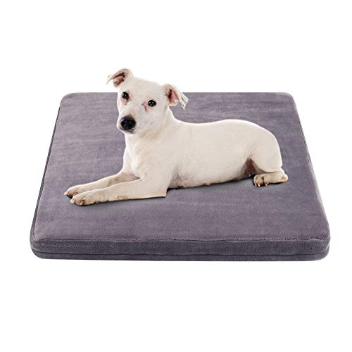 Small Dog Bed Orthopedic Foam Crate Bed for Dogs Washable Mattress with Non-Slip Cover