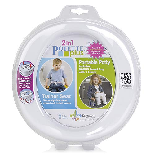 Kalencom Potette Plus 2-in-1 (Travel Potty) Trainer Seat White/Gray