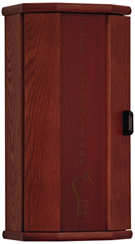Wooden Mallet Fire Extinguisher Cabinet, 5-Pound, Mahogany/Engraved by Wooden Mallet