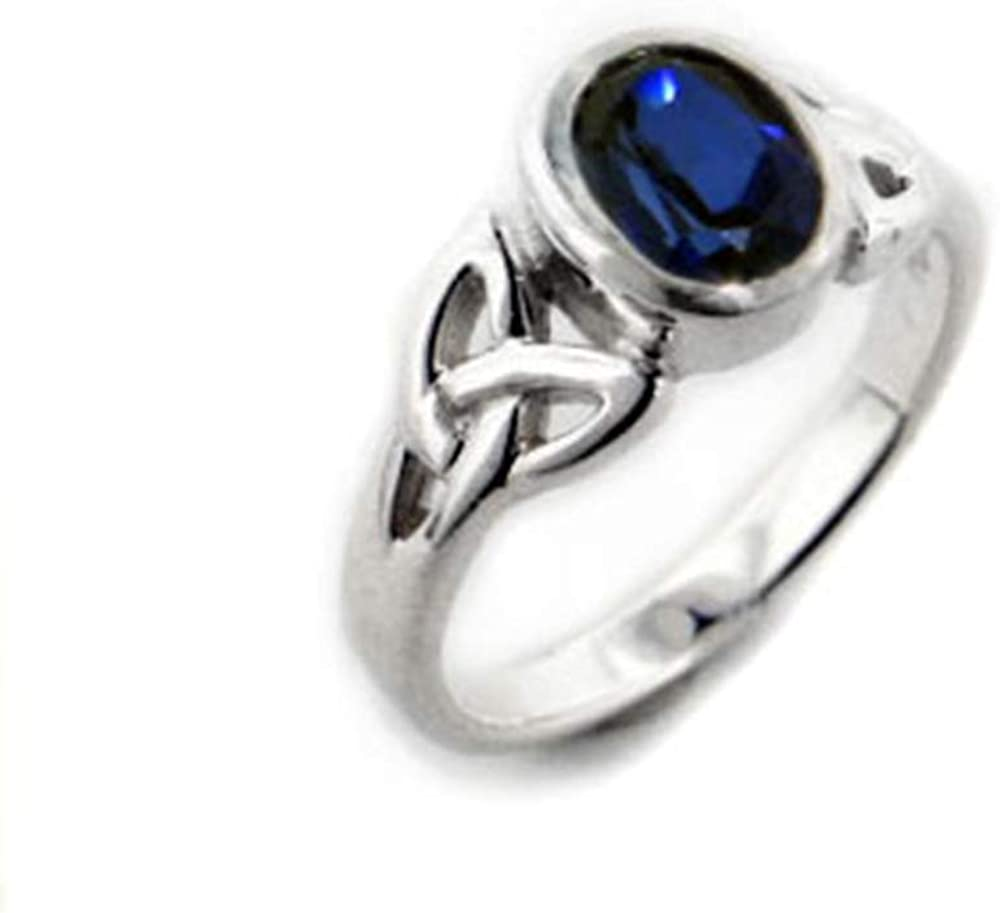 Gift For Wife Gift For Her Vintage Celtic Sterling Silver Blue Sapphire Ring Christmas Top Sale Ring