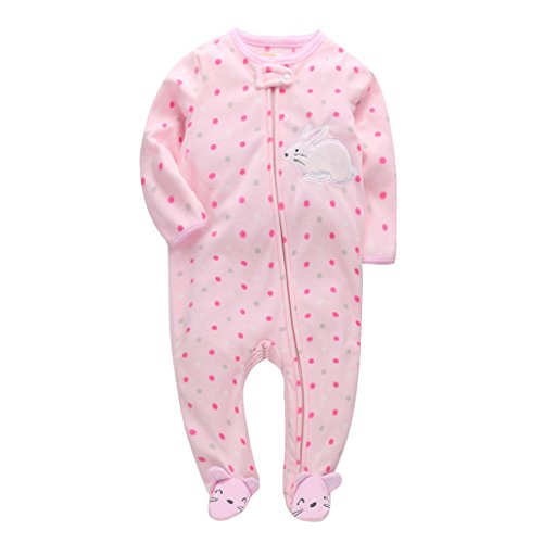 CARMELA HILL WILLIAMS 2018 Christmas Baby Girl Clothes, Soft Fleece Kids one Pieces Jumpsuits Pajamas 0-24M