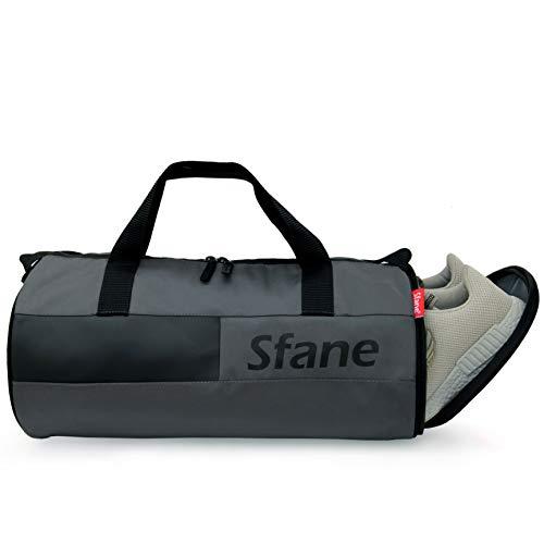 SFANE Duffel Gym Bag,Shoulder Bag for Men & Women with Shoe Compartment (Grey,Black) Price & Reviews