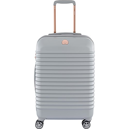 Delsey Luggage Bastille Lite 21 inch Carry on 4 Wheel Spinner, Pearl Grey by DELSEY Paris