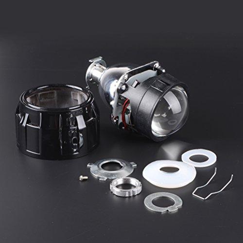 "1 Pair 2.5"" Mini HID Bi Xenon Projector Lens + Black Shround Kit Hi/Lo Beam Headlight for H1/H4/H7/9005/9006 Bulb"