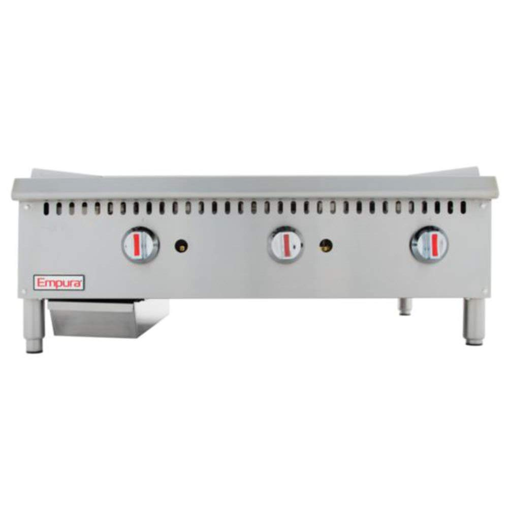 Empura EMG-36 36'' Stainless Steel Griddle with 3 Burners, 90,000 BTU