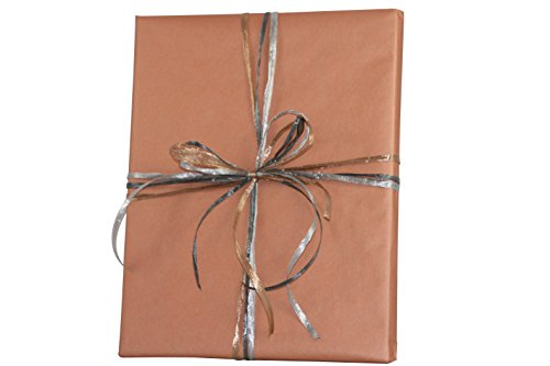 Premium Kraft Gift Wrap Paper Roll - Solid Matte - 50 Sq Ft (Copper)
