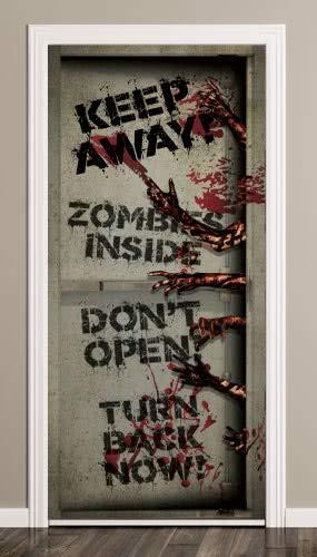 PARTYRama Zombies Interior Halloween Puerta Cubierta PVC ...