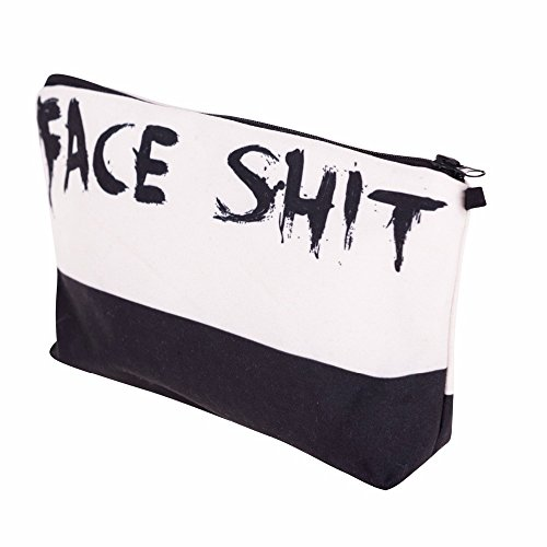 3D Printed Fashion Women's Cosmetic Makeup Bag (Face Shit). Add some humor to your life with this adorable Cotton Canvas traveling cosmetic organizer. by KEka