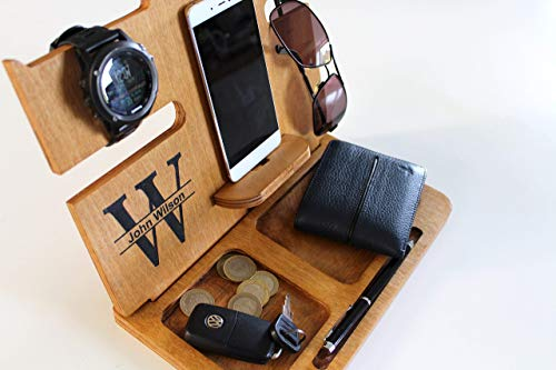 92bf1e7665de Fathers Day Gifts Gifts for Men Boyfriend gifts Wood Docking Station Gift  ideas for Men Gifts