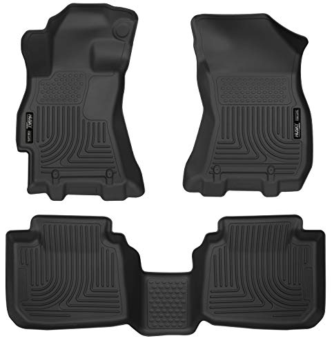 Liners Floor Front 2 Piece - Husky Liners 99671 Black Weatherbeater Front & 2nd Seat Floor Liners Fits 2015-2019 Subaru Legacy, 2015-2019 Subaru Outback