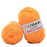 Godagoda Thick Warm DIY Crochet Knitting Hand-Woven Soft Baby Cotton Wool Yarn