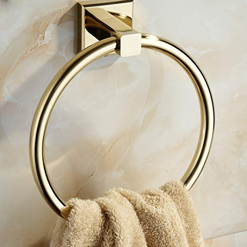 Amazon.com: Anillo de latón para toallas, montaje en pared ...