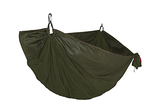 Grand Trunk One Made Double Hammock and Tree Sling Kit: Portable Total Hammock Kit - Perfect for Outdoor Adventures, Camping, and Festivals, Moss Green - Made in The USA ()