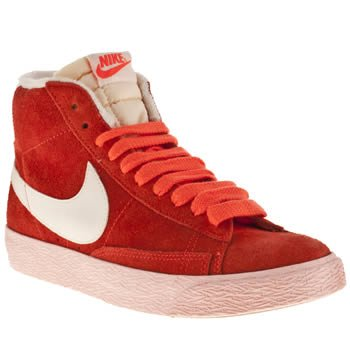 Nike Blazer Vintage Mid Orange Premium Suede Womens Trainers Shoes Boots 5