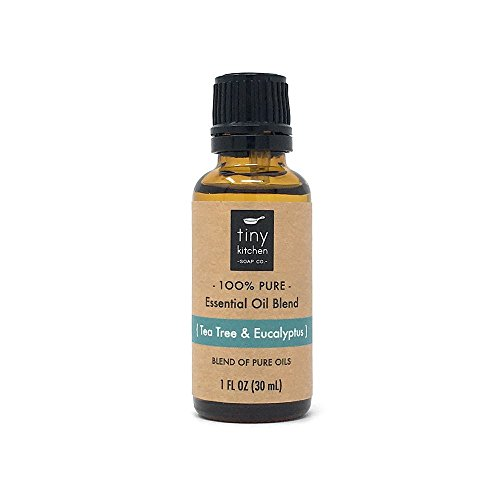 Tea Tree and Eucalyptus - Blend of Pure Undiluted Essential Oils (30 mL / 1 fl oz) by Tiny Kitchen Soap Co.