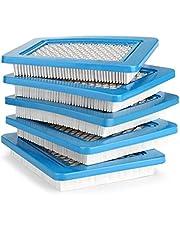 AGPTEK Set van 5 luchtfilters voor Briggs Stratton Quantum 491588 491588 4915885 399959 Premium permanente vervangende luchtfilter geschikt voor Briggs Stratton - Wegwerp