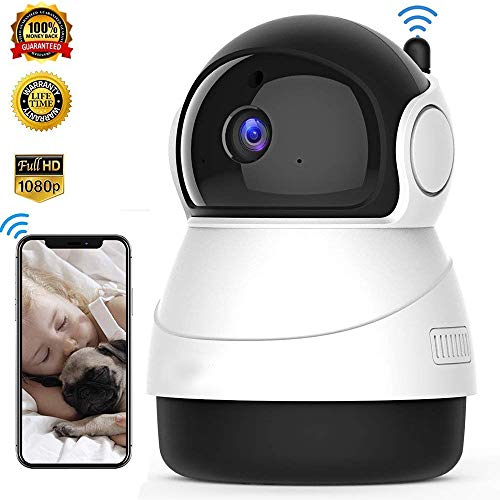 Cheap 1080p HD Indoor Wireless Security Camera,Dome Camera, WiFi Home Surveillance IP Camera for Baby/Elder/Pet/Nanny Monitor,Surveillance Monitor 2-Way Audio (White)