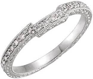 Platinum 1/8 CTW Diamond Band, Ring Size 6