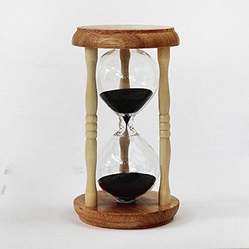 Hourglass Timer - Home Decor 5 Mins Wooden Sand Clock Sandglass Hourglass Timer Gift Ampulheta Reloj De Arena Bs - Liquid Minute Green Blue Clock Glass ...