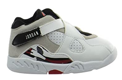 97a6a8d0b295 Jordan 8 Retro (TD) Baby Toddlers Shoes White Black-True Red 305360