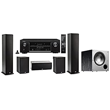 Denon AVR-S510 with Polk 5.1 Package (T Series)