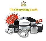 Dog Goods - The Everything Leash - Complete Dog Walking Belt Dog Running Leash Hands Free Dog Leash Fanny Pack Hiking Belt Bag with Poop Bag Dispenser, Dog Treat Pouch, Bungee Dog Leash