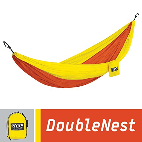ENO Eagles Nest Outfitters - DoubleNest Hammock, Portable Hammock for Two, Orange/Yellow