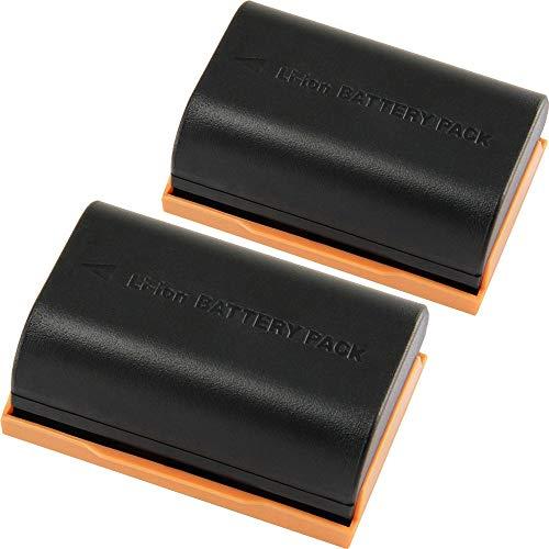 TOP-MAX 2 Pack LP-E6N LP-E6 Batteries for Canon 5D Mark II III IV, 80D, 70D, 60D, 6D, EOS 5Ds, 5D2, 5D3, 5DSR, 5D4