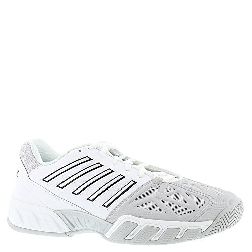 Big Shot Tennis - K-Swiss Men's Bigshot Light 3 Tennis Shoes (White/Silver) (12 D(M) US)