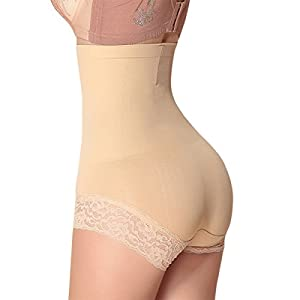 Shymay Women's Seamless Control Panties Shapewear Minimizing Hi-waist Boyshort