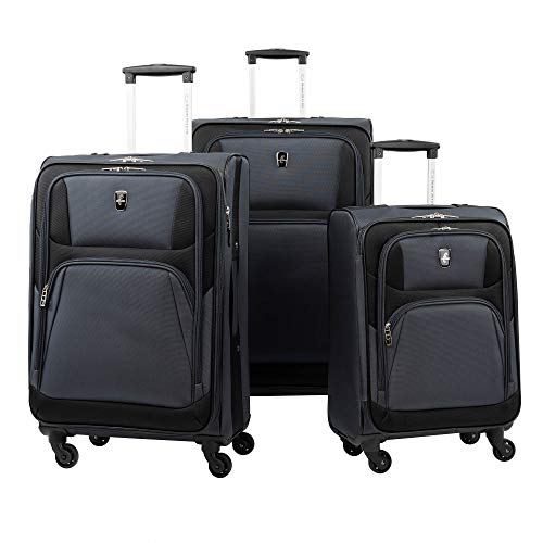 Atlantic 3-Pc. Expandable Spinner Set - Gray Atlantic Luggage Luggage Set