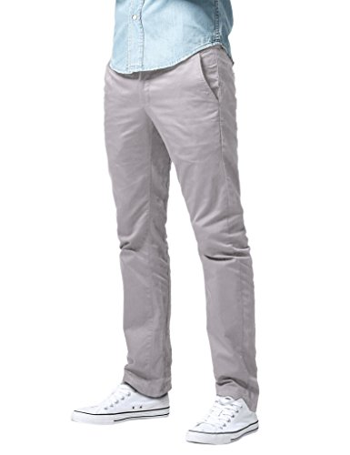 Match Men's Athletic Fit Straight Leg Casual Pants (36, 8089 Silver Gray)
