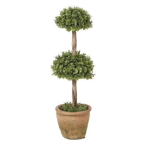 - OKSLO August Grove Triple Ball Orchid Topiary in Pot