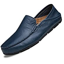 Men's Casual Genuine Leather Driving Moccasins Slip-On Loafers Fashion Casual Shoes for Men