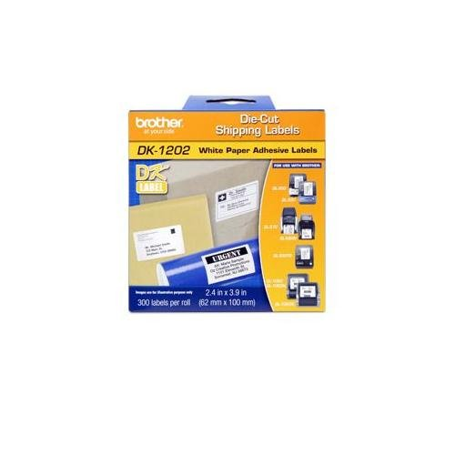 Brother BRT-DK1203 Dk Series File Folder Paper Adhesive Label, 1