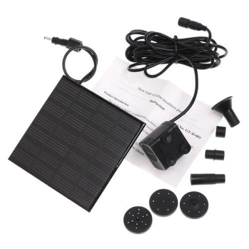 Solar Panel Power Fountain Pond Pool Water Pump Kit
