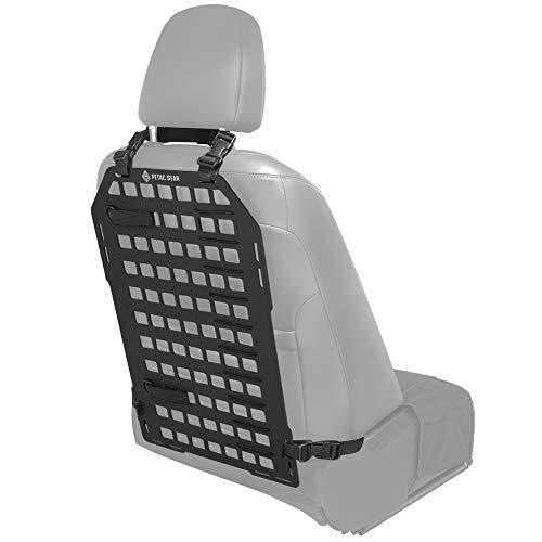 PETAC GEAR Rigid MOLLE Insert Panel 14.2in x 23.4in Vehicle Car Seat Back Organizer Rifle Gun Rack Mount Bracket Display Modular Storage Platform