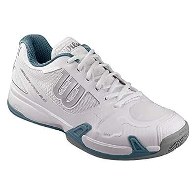 Wilson WRS323470E, Zapatillas de Tenis Hombre, Blanco (White / Ice Gray Wil / Blue Mirage), 40 EU