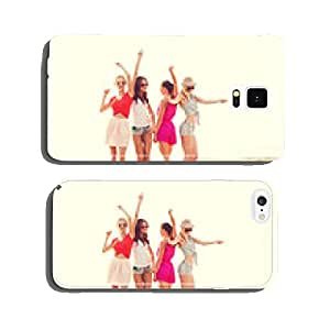 group of smiling women dancing on beach cell phone cover case iPhone6 Plus