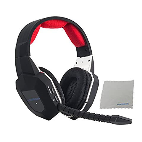 HAMSWAN Gaming Headset 2.4GHz Wireless Headphones with Detachable Mic and Rechargeable Battery for Xbox One, Xbox 360, PS3, PS4, PC, and - Xbox 360 Usb Headset