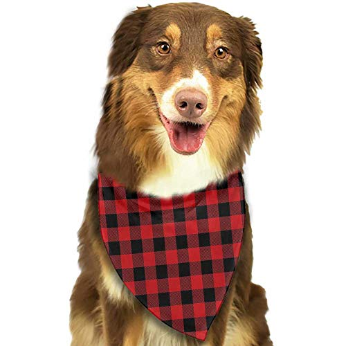 Cute pet Scarf Plaid Lumberjack Fashion Buffalo Style Checks Pattern Retro Style with Grid Composition W27.5 xL12 Scarf for Small and Medium Dogs and Cats