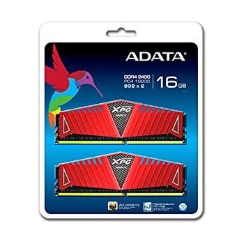 ADATA XPG Z1 DDR4 2400MHz (PC4 19200) 16GB (8GBx2) Memory Modules, Red (AX4U2400W8G16-DRZ)