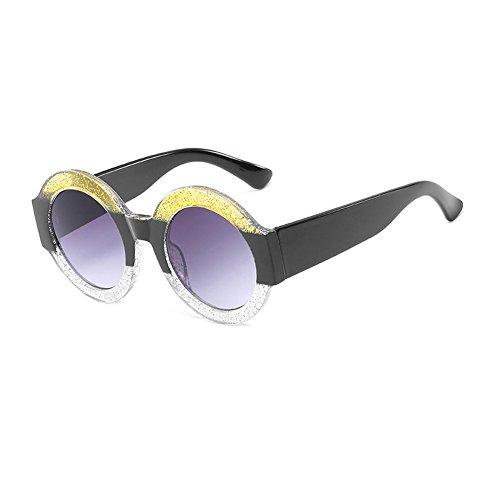 sol Moda gafas Gafas sol UV400 marco circular mujer Color de C1 CJ9006 de de CJ9006 de de hombre C8 sol plástico de TL grande gafas Sunglasses zq8xUR