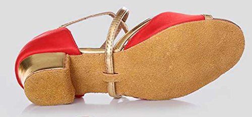 Party Breathable Low Toe 615 M Shoes Womens Tango Dance US Stylish Heel Abby Red Trendy Leisure 4 Peep Wedding XYq1w1